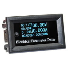 7in1 Voltmeter Ammeter OLED Digital Power Meter Current Time Temperature Energy