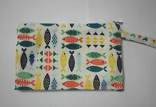 Cotton Linen Small Zipper Wallet Bag Purse Coin Card Phone Holder Girl-Fish1