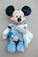 "Genuine Original Disney 17"" Baby MICKEY MOUSE With Blankie/Rattle Soft Plush"