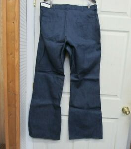 US Navy USN Sailor Bell Bottom Denim Jeans Dungaree Utility Trousers 38 R NOS