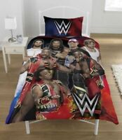 WWE Single Bed Complete Set - Duvet Cover, Pillowcase, Chocolate Fitted Sheet