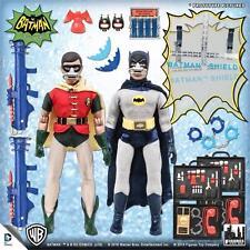 "1966 Batman Classic TV Series ""Breather"" Deluxe Batman & Robin 8 inch figures"