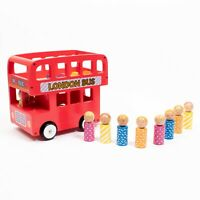 ELC Wooden Double Decker London Red Bus with Passengers - Complete