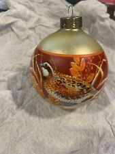 "Hallmark Pheasant ""nature"" Christmas Ornament 3"" Round 1978"