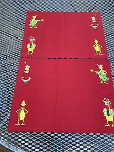 2 GRINCH PLACEMATS..Reversible