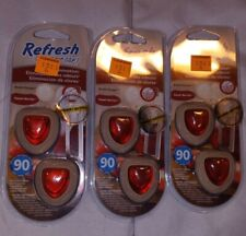 Refresh Your Car Odor Elimination Clips Sweet Berries Rustic Escape 3 Packs