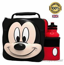 BoyzToys Boyt-59055/59053 Zip Closure 3d Mickey Mouse Lunch Bag With Bottle