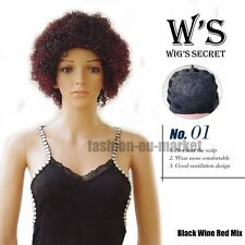 Ombre Wigs Curly Wavy Wigs Fashion Synthetic for Black White/Black Women Wigs US