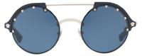 Versace Damen Herren Sonnenbrille VE4337 5251/80 53mm silber blau G DU2 H