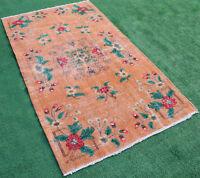 Turkish Rug 47''x83'' Vintage Muted Color Oriental Rug Wool Carpet 120x213cm