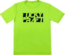 LUCKY CRAFT Sports (Dri-Fit) T-shirts - Lime Green & Black - Small