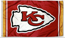 Chiefs FLAG 3X5 Kansas City Banner American Football New Fast USA Shipping KC