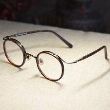 8b9b83ed87 Retro Round Eyeglasses Frame John Lennon women dark tortoise glasses circle  lens