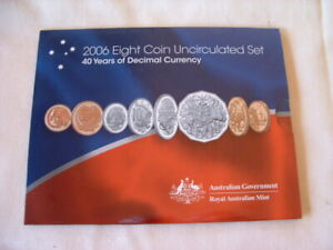 AUSTRALIAN UNCIRCULATED RAM COIN SET 2006 40 YEARS OF DECIMAL CURRENCY