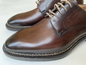 $2000 Ralph Lauren Purple Label Kaleb Norvegese Stitch Brown Derby Leather Shoes