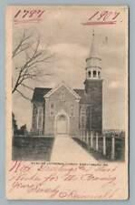St. Elias Lutheran Church EMMITSBURG Maryland~Antique UDB Frederick Co PC 1906