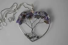Tree of Life Intuition Alexandrite Charoite Amethyst Topaz Labradorite crystals