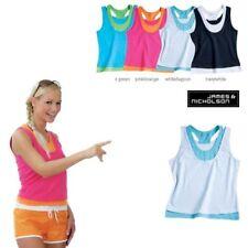 James&N. Sport Marken Double Top Shirt NEU in WEISS BLAU in S