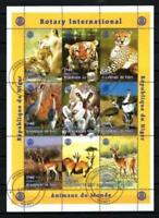 Niger 1998 Animaux sauvages (104) Yvert n° 1052 à 1060 oblitéré used