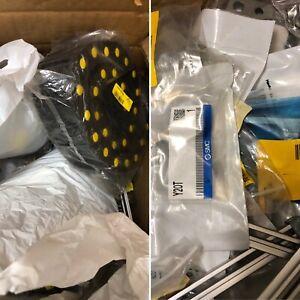 Box of RS Components Surplus - Pneumatics, Electrical, Subrack, Enclosure Parts