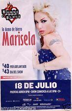 MARISELA 2014 SAN DIEGO CONCERT TOUR POSTER - Mexican Singer, Latin World Music