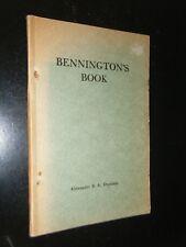 Bennington's Book Chronicle of a New England Village Vermont Alexander Drysdale