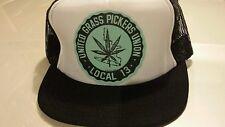 Vintage Trucker Mesh Hash Weed Pot Picker #13 Hat