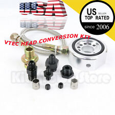 SILVER VTEC HEAD CONVERSION KIT - LS B18 B20 ALUMINUM ADAPTER PLATE SANDWICH SET