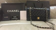 """SOLD"" AUTH Chanel Classic Flap in Black Caviar Leather"
