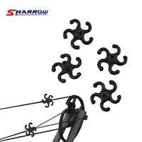 8pcs Archery Bowstring Stabilizer Silencer Dampener Recurve Compound Bow Black
