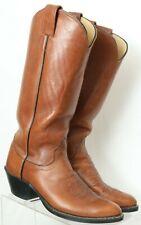 Olathe 35224 Vintage Brown Tall Western Cowboy Boots USA Women's US 6.5 B