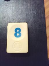 PION RUMMIKUB N° 8 BLEU D'ORIGINE 4cm X 3cm