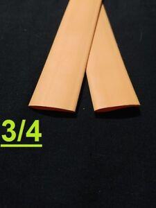 "3/4"" inch 19mm ORANGE  2:1 heat shrink tubing polyolefin (1 FOOT)"