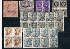 España. Bloques de sellos Alfonso XIII y Franco