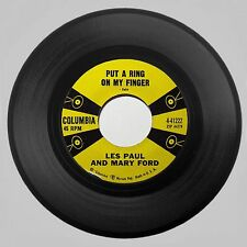 1958 Les Paul And Mary Ford 'Put A Ring On My Finger/Fantasy Columbia 45 RPM NM