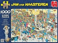 JUMBO JIGSAW PUZZLE QUEUED UP! JAN VAN HAASTEREN 1000 PCS #17466 CARTOON