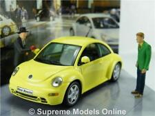 VOLKSWAGEN BEETLE MODEL CAR 1:43 SCALE VITESSE MILLENIUM EDITION YELLOW NEW K8Q