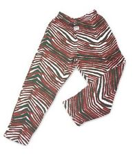 Zubaz Zebra Striped Lounge Pajama Pants Green & Red - Size: Small