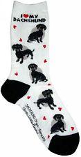 I Love My Dachshund Black (631091)Women Socks Cotton New Gift Fun Unique Fashion