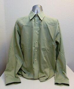 Men's Size 17 1/2 Roundtree & Yorke Long Sleeve Shirt Mint Green Dillard's
