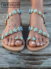 Women Bohemia Handmade Sandals Wedding Sandals Beach Flat Gladiator Roman Style
