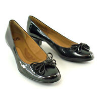 Sofft Milano Anthracite Black Leather Women's Low Heel Pump 7.5M # 1050415