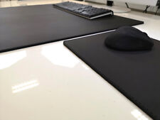 ohne Ziernaht Schreibtischunterlage schwarz 44x34 Leder mit Mauspad