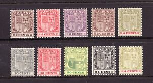 Sc#135 // 173 *see notes - Mauritius - Coat of Arms - MH -  superfleas - cv$24+