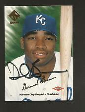 Autographed Baseball Card - DERMAL BROWN - Kansas City Royals - 1999 Pacific