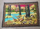 """Vintage Pheasant Scene Tapestry/Throw Rug 36x54""""  VERY COLORFUL *BEST OFFER*"""