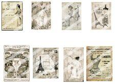 """Vintage Corset pics & Ads  - 8 2x3"""" - Journal-Scrapbooking etc- Cotton"""