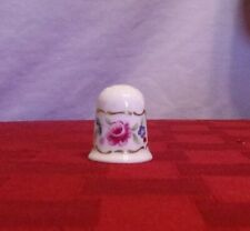 "TCC Coalport ""Albany Flowers"" thimble, great condition"