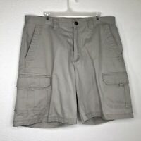 Columbia Men's Size 38 Cargo Shorts Hiking Utility Cotton Beige Inseam 10""
