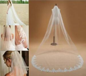 RULTA UK Bridal Wedding Veil Tier Soft White Ivory Cathedral Veil with comb O1